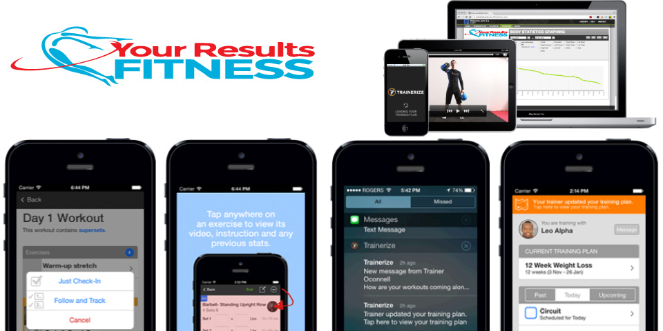 Your Results Fitness Smart Phone And Web Apps